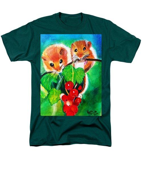 Ripe-n-ready Cherry Tomatoes Men's T-Shirt  (Regular Fit) by Renee Michelle Wenker
