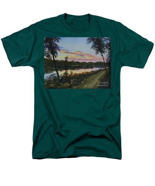 River Sunset Men's T-Shirt  (Regular Fit) by Martin Howard