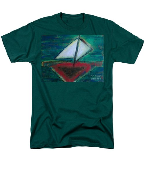 Men's T-Shirt  (Regular Fit) featuring the painting Sailboat by Jacqueline McReynolds