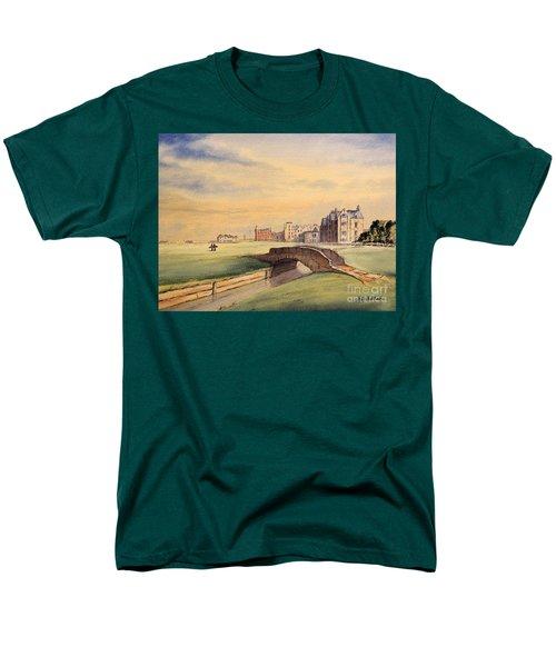 Saint Andrews Golf Course Scotland - 18th Hole Men's T-Shirt  (Regular Fit) by Bill Holkham