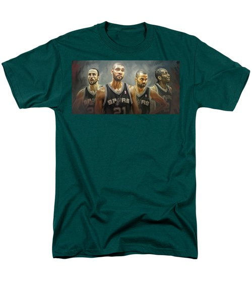 San Antonio Spurs Artwork Men's T-Shirt  (Regular Fit) by Sheraz A