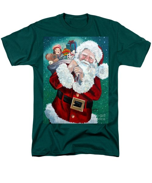 Men's T-Shirt  (Regular Fit) featuring the painting Santa's Coming To Town by Julie Brugh Riffey