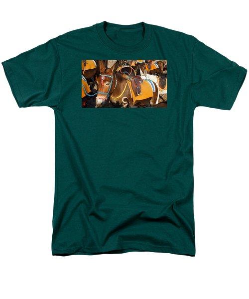 Santorini Donkeys Ready For Work Men's T-Shirt  (Regular Fit) by Colette V Hera  Guggenheim