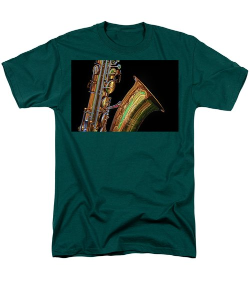Men's T-Shirt  (Regular Fit) featuring the photograph Saxophone by Dave Mills