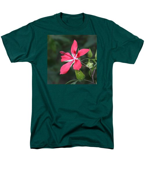 Men's T-Shirt  (Regular Fit) featuring the photograph Scarlet Hibiscus #3 by Paul Rebmann
