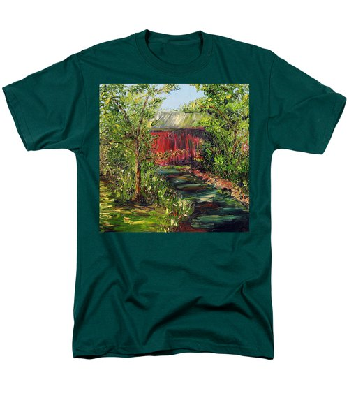 Men's T-Shirt  (Regular Fit) featuring the painting Season Of Singing by Meaghan Troup