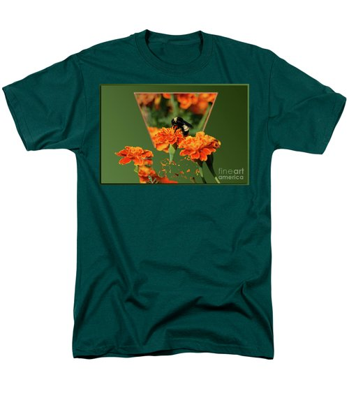 Men's T-Shirt  (Regular Fit) featuring the photograph Sharing The Nectar Of Life by Thomas Woolworth
