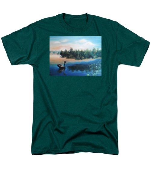 Men's T-Shirt  (Regular Fit) featuring the painting Silence by Vesna Martinjak