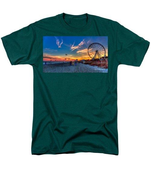 Skywheel Sunset At Myrtle Beach Men's T-Shirt  (Regular Fit) by Robert Loe