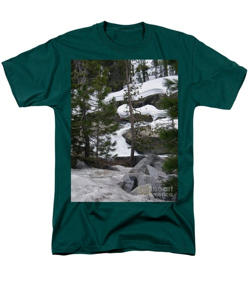 Men's T-Shirt  (Regular Fit) featuring the photograph Snowy Sierras by Bobbee Rickard