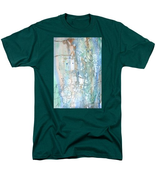 Men's T-Shirt  (Regular Fit) featuring the painting Stained Cracks by Rebecca Davis