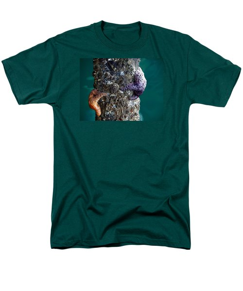 Men's T-Shirt  (Regular Fit) featuring the photograph Starfish Under The Pier by Kathy Churchman