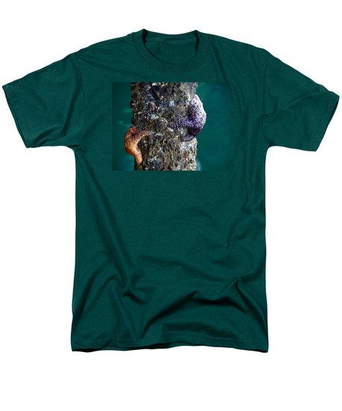 Starfish Under The Pier Men's T-Shirt  (Regular Fit) by Kathy Churchman