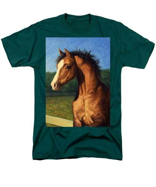 Men's T-Shirt  (Regular Fit) featuring the painting Stir Crazy by James W Johnson