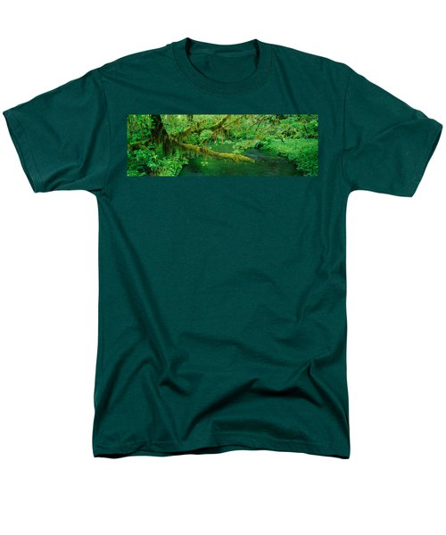 Stream Flowing Through A Rainforest Men's T-Shirt  (Regular Fit) by Panoramic Images