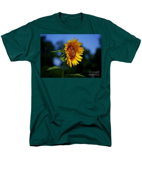 Sunflower With Honeybee Men's T-Shirt  (Regular Fit) by Catherine Sherman