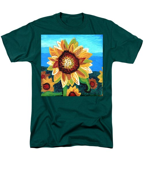 Sunflowers And Blue Sky Men's T-Shirt  (Regular Fit) by Genevieve Esson