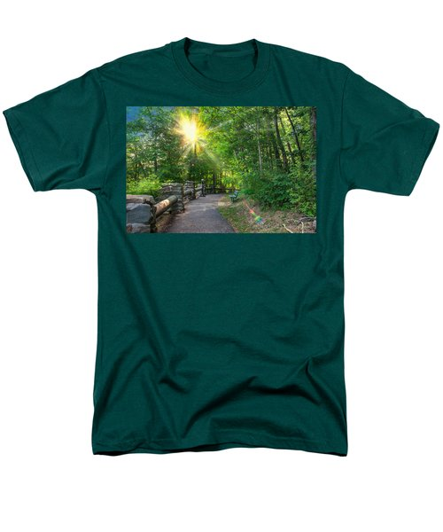 Sunlit Path Men's T-Shirt  (Regular Fit) by Mary Almond