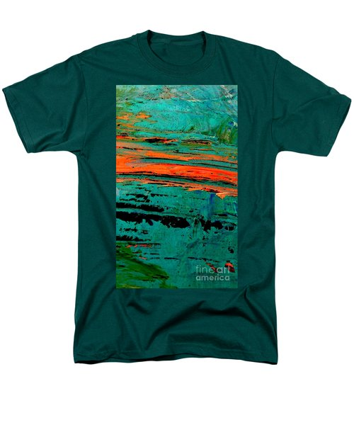 Men's T-Shirt  (Regular Fit) featuring the painting Sunrise On The Water by Jacqueline McReynolds