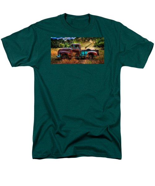 Sunset Chevy Pickup Men's T-Shirt  (Regular Fit) by Ken Smith