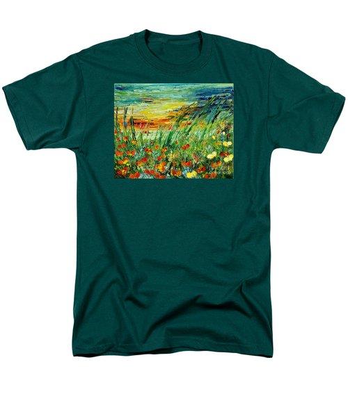 Sunset Meadow Series Men's T-Shirt  (Regular Fit) by Teresa Wegrzyn