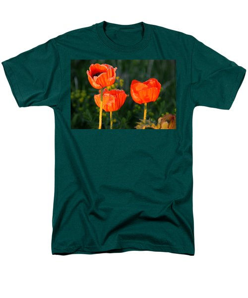 Men's T-Shirt  (Regular Fit) featuring the photograph Sunset Poppies by Debbie Oppermann