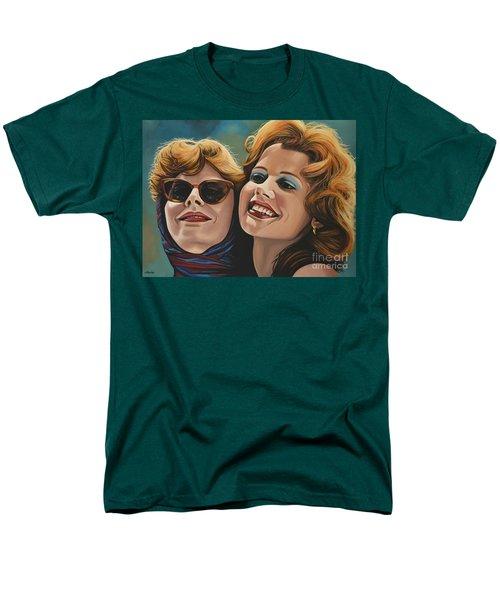 Susan Sarandon And Geena Davies Alias Thelma And Louise Men's T-Shirt  (Regular Fit) by Paul Meijering