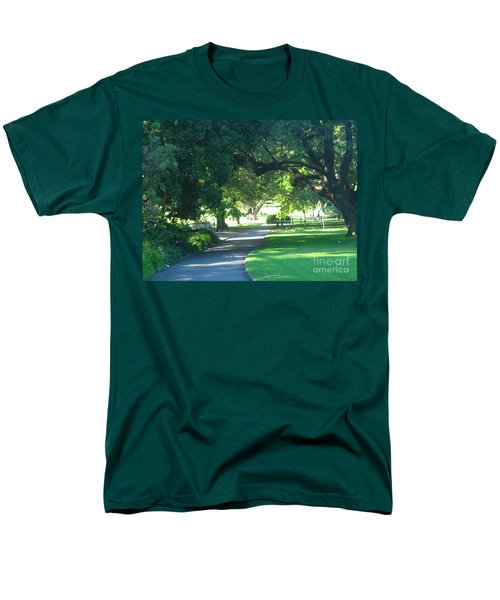 Men's T-Shirt  (Regular Fit) featuring the photograph Sydney Botanical Gardens Walk by Leanne Seymour