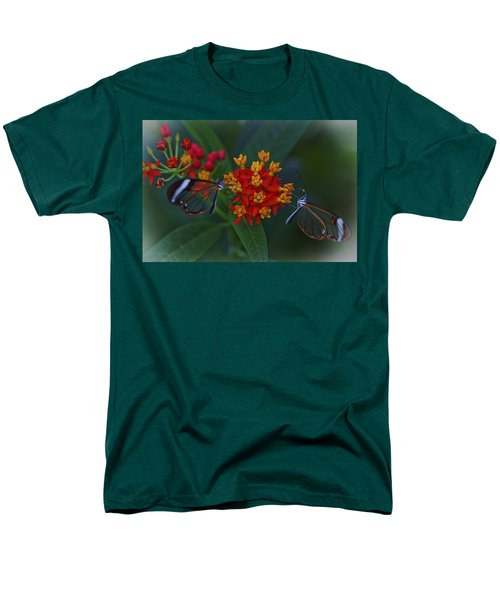 The Glasswinged Butterfly Men's T-Shirt  (Regular Fit) by Maj Seda