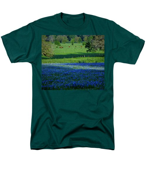 Men's T-Shirt  (Regular Fit) featuring the photograph The Pastures Of Central Texas by John Glass