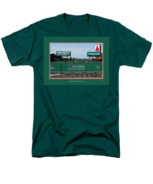 The Green Monster Fenway Park Men's T-Shirt  (Regular Fit)