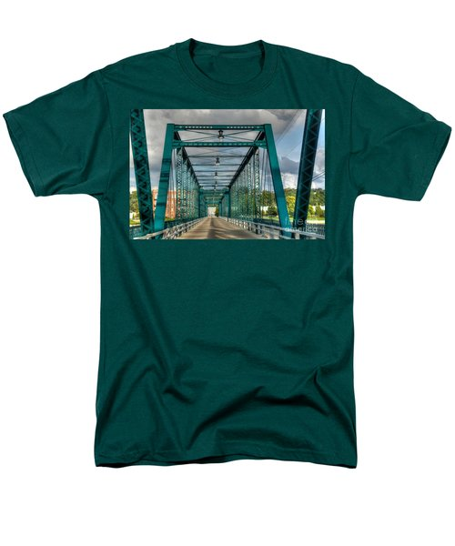 Men's T-Shirt  (Regular Fit) featuring the photograph The Old Sixth Street Bridge by Robert Pearson