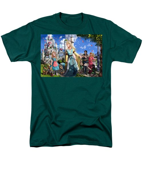 Men's T-Shirt  (Regular Fit) featuring the painting The Palace Garden  by Reynold Jay