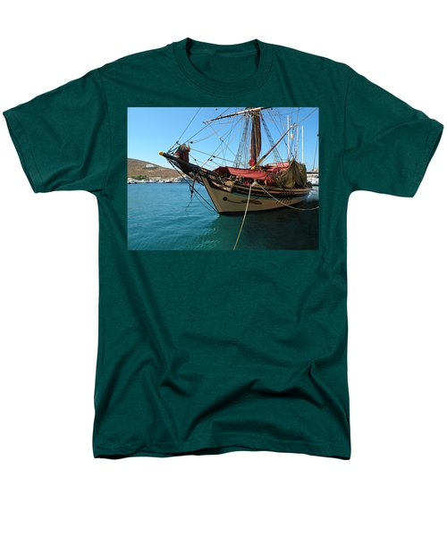 The Pirate Ship  Men's T-Shirt  (Regular Fit) by Micki Findlay