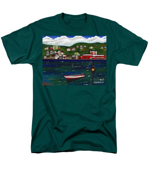 The Red And White Fishing Boat Carenage Grenada Men's T-Shirt  (Regular Fit)