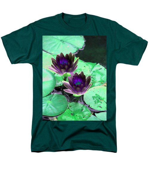 Men's T-Shirt  (Regular Fit) featuring the photograph The Water Lilies Collection - Photopower 1119 by Pamela Critchlow