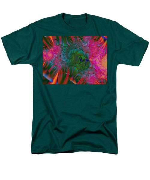 Men's T-Shirt  (Regular Fit) featuring the digital art Through The Electric Garden by Elizabeth McTaggart