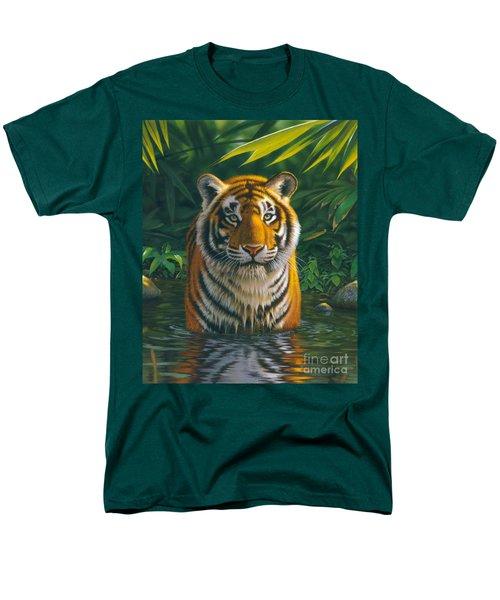Tiger Pool Men's T-Shirt  (Regular Fit) by MGL Studio - Chris Hiett