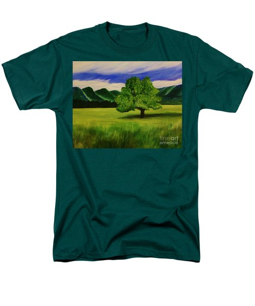 Tree In A Field Men's T-Shirt  (Regular Fit) by Christy Saunders Church