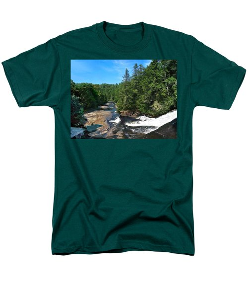 Triple Falls North Carolina Men's T-Shirt  (Regular Fit) by Steve Karol