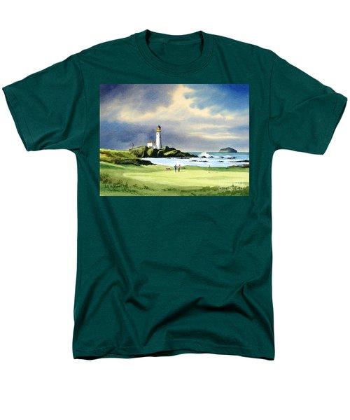 Turnberry Golf Course Scotland 10th Green Men's T-Shirt  (Regular Fit) by Bill Holkham
