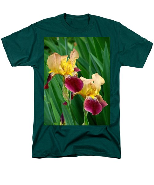 Two Iris Men's T-Shirt  (Regular Fit) by Rodney Lee Williams
