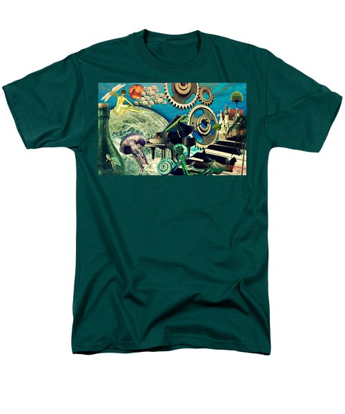 Men's T-Shirt  (Regular Fit) featuring the digital art Underwater Dreams by Ally  White