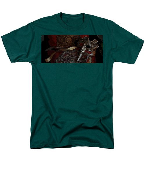 After The Carnival - Venetian Mask Men's T-Shirt  (Regular Fit) by Yvonne Wright