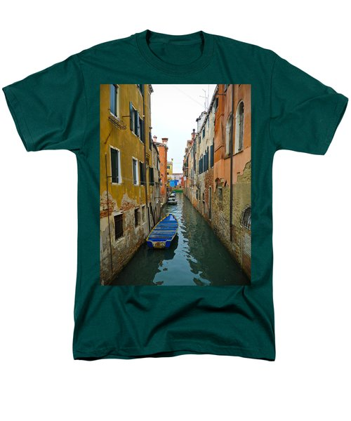 Men's T-Shirt  (Regular Fit) featuring the photograph Venice Canal by Silvia Bruno