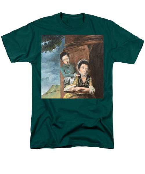 Vintage Mother And Son Men's T-Shirt  (Regular Fit) by Mary Ellen Anderson