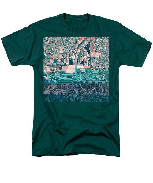 Washington Dc Skyline Abstract 5 Men's T-Shirt  (Regular Fit)