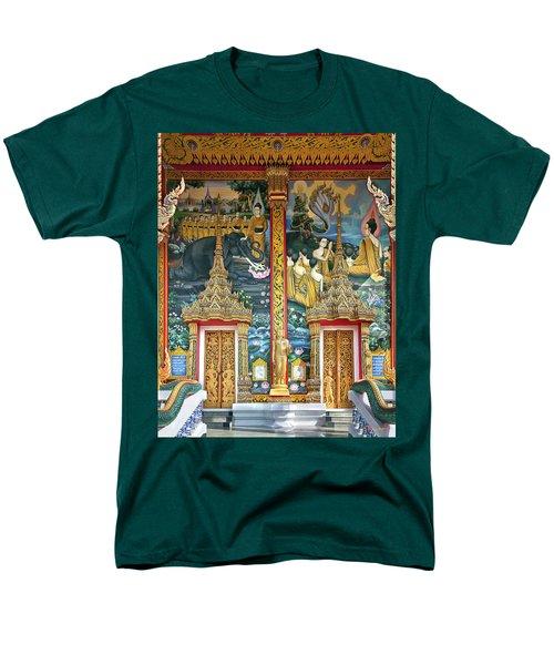 Men's T-Shirt  (Regular Fit) featuring the photograph Wat Choeng Thale Ordination Hall Facade Dthp143 by Gerry Gantt