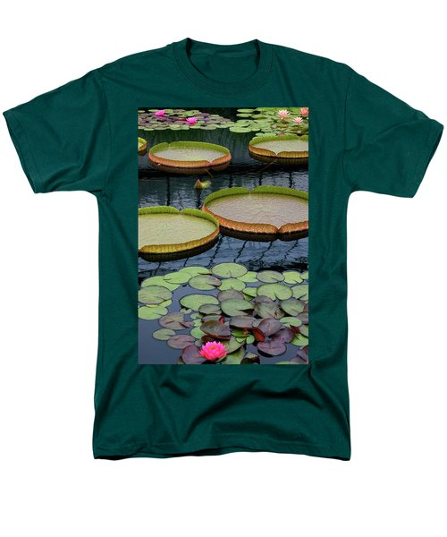 Waterlilies And Platters 2 Men's T-Shirt  (Regular Fit) by Byron Varvarigos