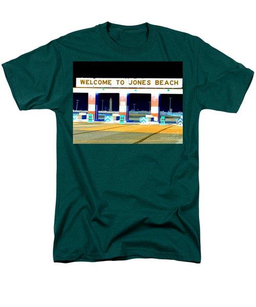 Welcome To Jones Beach Men's T-Shirt  (Regular Fit) by Ed Weidman